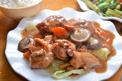 炖煮的食物猪肉指关节 免版税库存照片