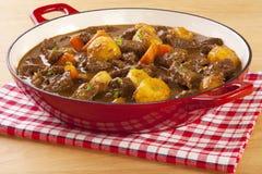 炖煮的食物用红萝卜和土豆 库存照片