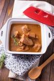 炖煮的食物用肉 图库摄影