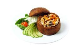 炖牛肉用蘑菇 免版税图库摄影