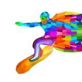 炫耀与冲浪者的概念 库存图片