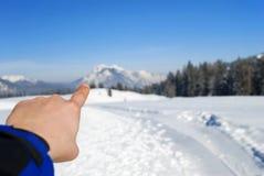 炫耀冬天 库存照片
