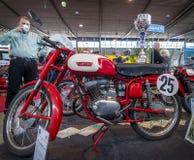 炫耀摩托车Laverda 100体育Lusso, 1958年 免版税库存照片