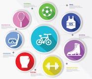 炫耀概念,五颜六色的版本 免版税库存图片