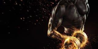 炫耀背景 火和能量 图库摄影
