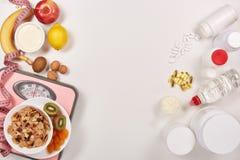 炫耀营养 健康的食物 免版税库存照片