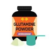 炫耀营养,谷氨酰胺粉末,专业肌酸, measu 免版税库存照片
