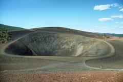 炭渣锥体,拉森火山国家公园火山口  库存图片