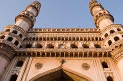 炭灰Minar -迷人的海得拉巴 库存照片