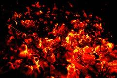炭烬发光 免版税库存图片