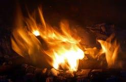 炭烬火焰 免版税库存照片
