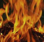 炭烬火焰 免版税库存图片