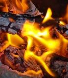 炭烬火焰 库存图片