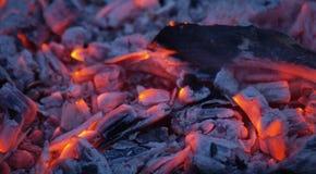炭烬火焰 库存照片
