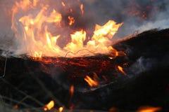 炭烬火 免版税库存照片