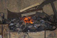 炭烬 库存图片