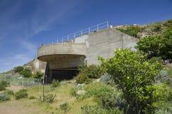 炮台在鹰小山,旧金山湾,加利福尼亚,美国的电池129 图库摄影