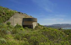 炮台在鹰小山,旧金山湾,加利福尼亚,美国的电池129 库存照片