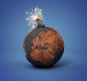 炮弹作为地球 免版税库存照片