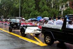 炮架棺材李光耀新加坡先生 免版税库存照片