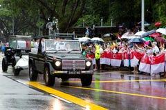 炮架棺材李光耀新加坡先生 库存图片
