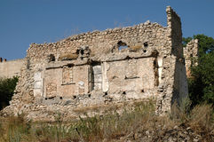 炮击大厦废墟在纳戈尔诺卡拉巴赫 库存图片
