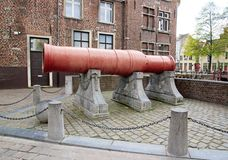 炮击Dulle Griet马戈特疯子 绅士比利时 库存照片
