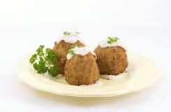 炸丸子食物法语 免版税库存照片