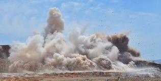炸开的岩石 库存照片