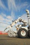 炸弹作战机器人的小队 免版税库存图片