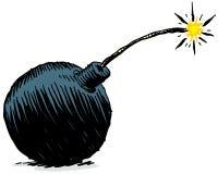 炸弹动画片 皇族释放例证