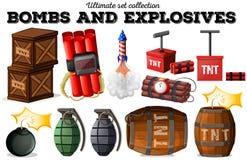 炸弹和易爆的对象 皇族释放例证