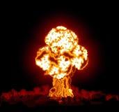 炸弹展开了氢 库存图片