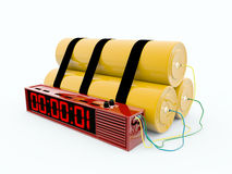 炸弹数字式定时器 库存图片
