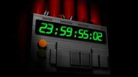 炸弹时钟,去的24个小时! 库存例证