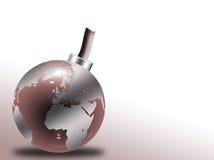 炸弹玻璃地球 免版税库存图片