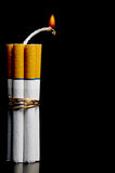 炸弹香烟 库存图片