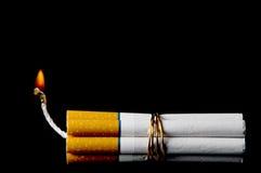 炸弹香烟 图库摄影