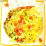 炸玉米粉圆饼辣素食者墨西哥人食物 图库摄影