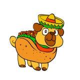 炸玉米饼哈巴狗 墨西哥哈巴狗 向量例证