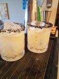 炸玉米饼星期二和玛格丽塔酒! 免版税图库摄影