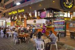 炸玉米饼餐馆在坎昆 免版税库存图片