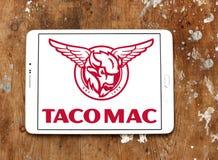 炸玉米饼Mac餐馆商标 免版税图库摄影