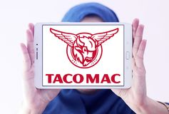 炸玉米饼Mac餐馆商标 图库摄影