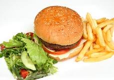 炸薯条汉堡包 免版税图库摄影