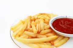 炸薯条调味汁蕃茄 免版税库存照片