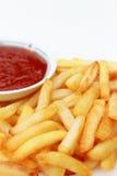 炸薯条调味汁蕃茄 库存照片