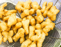 炸面包,甜点,油煎的饺子 库存图片