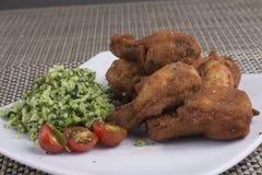炸鸡开胃菜  库存照片