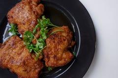 炸鸡用鱼子酱泰国样式开胃菜 免版税库存照片